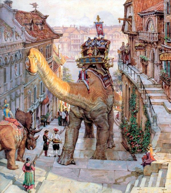Dinotopia - O Mundo Fantástico de James Gurney Arte & Ilustração literatura arte ilustração fantasia dinossauros james gurney Figura do Slideshow #27