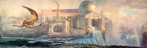 Dinotopia - O Mundo Fantástico de James Gurney Arte & Ilustração literatura arte ilustração fantasia dinossauros james gurney Figura do Slideshow #3