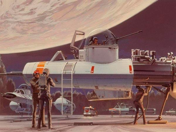 Star Wars IV: Uma Nova Esperança - Arte Conceitual de Ralph McQuarrie Arte & Ilustração Cinema arte ilustração fantasia cinema star wars sci-fi ralph mcquarrie Figura do Slideshow #38