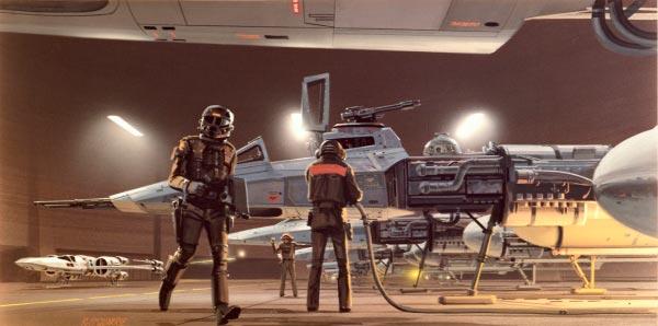 Star Wars IV: Uma Nova Esperança - Arte Conceitual de Ralph McQuarrie Arte & Ilustração Cinema arte ilustração fantasia cinema star wars sci-fi ralph mcquarrie Figura do Slideshow #37