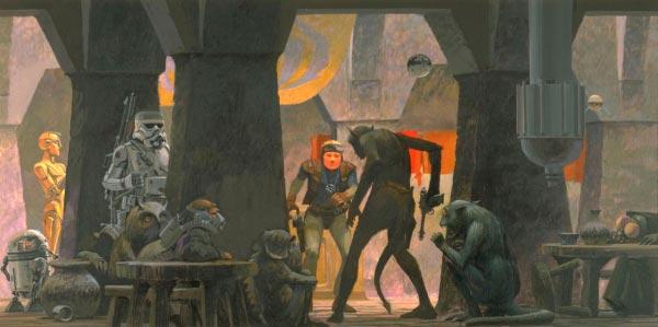 Star Wars IV: Uma Nova Esperança - Arte Conceitual de Ralph McQuarrie Arte & Ilustração Cinema arte ilustração fantasia cinema star wars sci-fi ralph mcquarrie Figura do Slideshow #6
