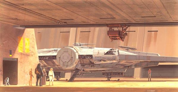 Star Wars IV: Uma Nova Esperança - Arte Conceitual de Ralph McQuarrie Arte & Ilustração Cinema arte ilustração fantasia cinema star wars sci-fi ralph mcquarrie Figura do Slideshow #11