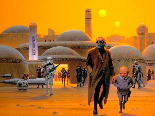 Star Wars IV: Uma Nova Esperança - Arte Conceitual de Ralph McQuarrie Arte & Ilustração Cinema arte ilustração fantasia cinema star wars sci-fi ralph mcquarrie Figura do Slideshow #17