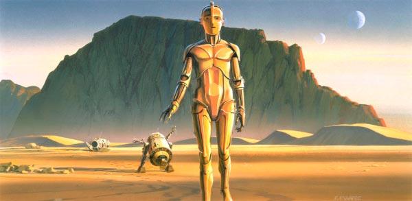 Star Wars IV: Uma Nova Esperança - Arte Conceitual de Ralph McQuarrie Arte & Ilustração Cinema arte ilustração fantasia cinema star wars sci-fi ralph mcquarrie Figura do Slideshow #2