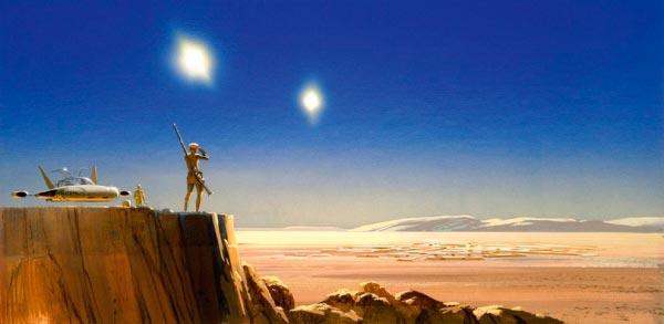 Star Wars IV: Uma Nova Esperança - Arte Conceitual de Ralph McQuarrie Arte & Ilustração Cinema arte ilustração fantasia cinema star wars sci-fi ralph mcquarrie Figura do Slideshow #13