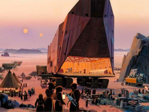 Star Wars IV: Uma Nova Esperança - Arte Conceitual de Ralph McQuarrie Arte & Ilustração Cinema arte ilustração fantasia cinema star wars sci-fi ralph mcquarrie Figura do Slideshow #12