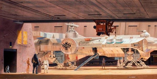 Star Wars IV: Uma Nova Esperança - Arte Conceitual de Ralph McQuarrie Arte & Ilustração Cinema arte ilustração fantasia cinema star wars sci-fi ralph mcquarrie Figura do Slideshow #10