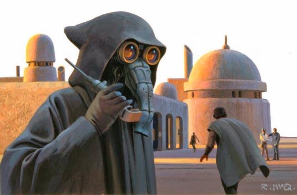 Star Wars IV: Uma Nova Esperança - Arte Conceitual de Ralph McQuarrie Arte & Ilustração Cinema arte ilustração fantasia cinema star wars sci-fi ralph mcquarrie Figura do Slideshow #9