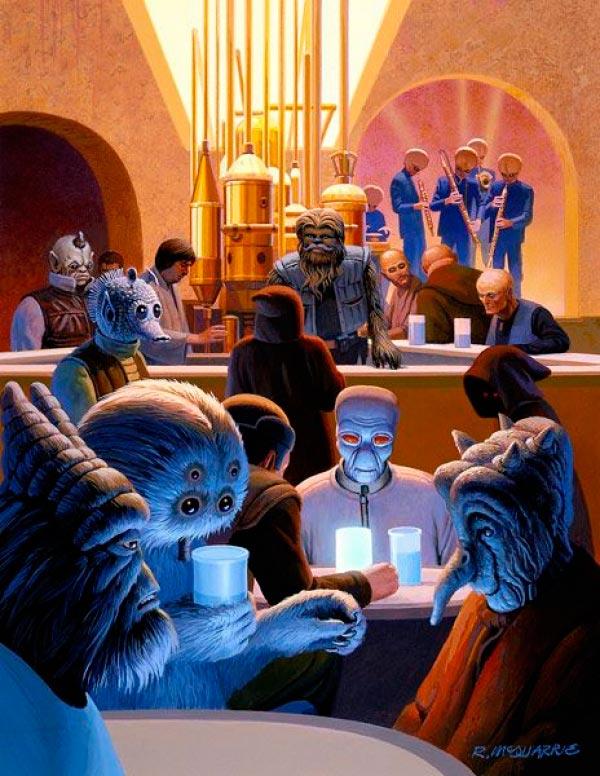 Star Wars IV: Uma Nova Esperança - Arte Conceitual de Ralph McQuarrie Arte & Ilustração Cinema arte ilustração fantasia cinema star wars sci-fi ralph mcquarrie Figura do Slideshow #8