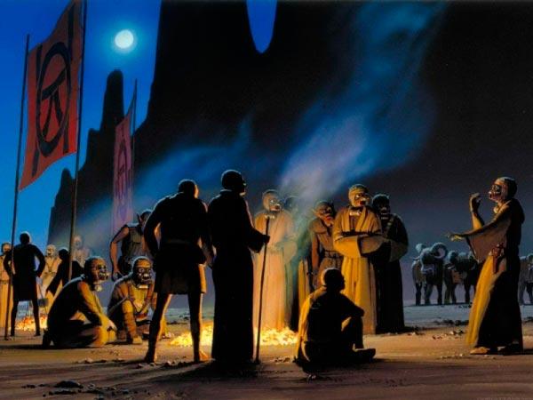 Star Wars IV: Uma Nova Esperança - Arte Conceitual de Ralph McQuarrie Arte & Ilustração Cinema arte ilustração fantasia cinema star wars sci-fi ralph mcquarrie Figura do Slideshow #7