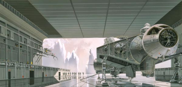 Star Wars IV: Uma Nova Esperança - Arte Conceitual de Ralph McQuarrie Arte & Ilustração Cinema arte ilustração fantasia cinema star wars sci-fi ralph mcquarrie Figura do Slideshow #47