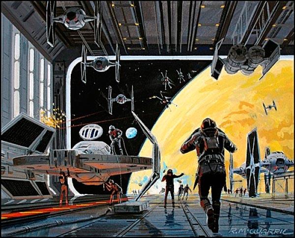 Star Wars IV: Uma Nova Esperança - Arte Conceitual de Ralph McQuarrie Arte & Ilustração Cinema arte ilustração fantasia cinema star wars sci-fi ralph mcquarrie Figura do Slideshow #25