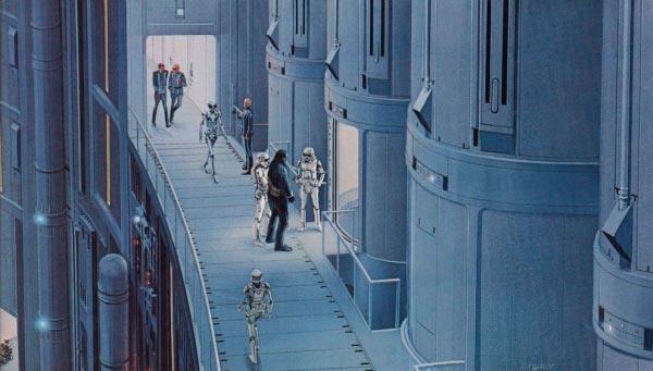 Star Wars IV: Uma Nova Esperança - Arte Conceitual de Ralph McQuarrie Arte & Ilustração Cinema arte ilustração fantasia cinema star wars sci-fi ralph mcquarrie Figura do Slideshow #20