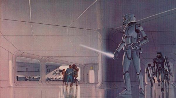 Star Wars IV: Uma Nova Esperança - Arte Conceitual de Ralph McQuarrie Arte & Ilustração Cinema arte ilustração fantasia cinema star wars sci-fi ralph mcquarrie Figura do Slideshow #19