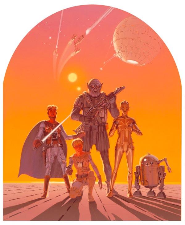 Star Wars IV: Uma Nova Esperança - Arte Conceitual de Ralph McQuarrie Arte & Ilustração Cinema arte ilustração fantasia cinema star wars sci-fi ralph mcquarrie Figura do Slideshow #1
