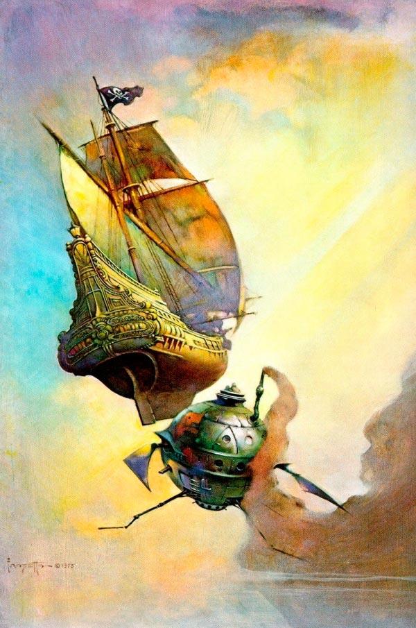 25 Ilustrações de Frank Frazetta: Fantasia de Ficção Científica Arte & Ilustração arte ilustração fantasia sci-fi frank frazetta Figura do Slideshow #17
