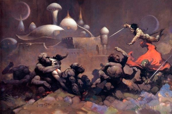 25 Ilustrações de Frank Frazetta: Fantasia de Ficção Científica Arte & Ilustração arte ilustração fantasia sci-fi frank frazetta Figura do Slideshow #19