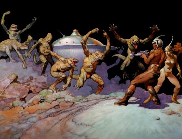 25 Ilustrações de Frank Frazetta: Fantasia de Ficção Científica Arte & Ilustração arte ilustração fantasia sci-fi frank frazetta Figura do Slideshow #15