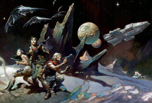 25 Ilustrações de Frank Frazetta: Fantasia de Ficção Científica Arte & Ilustração arte ilustração fantasia sci-fi frank frazetta Figura do Slideshow #16