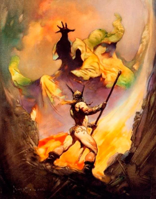 25 Ilustrações de Frank Frazetta: Fantasia de Ficção Científica Arte & Ilustração arte ilustração fantasia sci-fi frank frazetta Figura do Slideshow #20