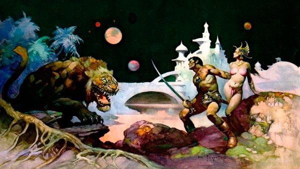 25 Ilustrações de Frank Frazetta: Fantasia de Ficção Científica Arte & Ilustração arte ilustração fantasia sci-fi frank frazetta Figura do Slideshow #10