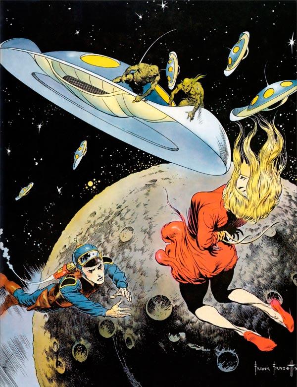 25 Ilustrações de Frank Frazetta: Fantasia de Ficção Científica Arte & Ilustração arte ilustração fantasia sci-fi frank frazetta Figura do Slideshow #25