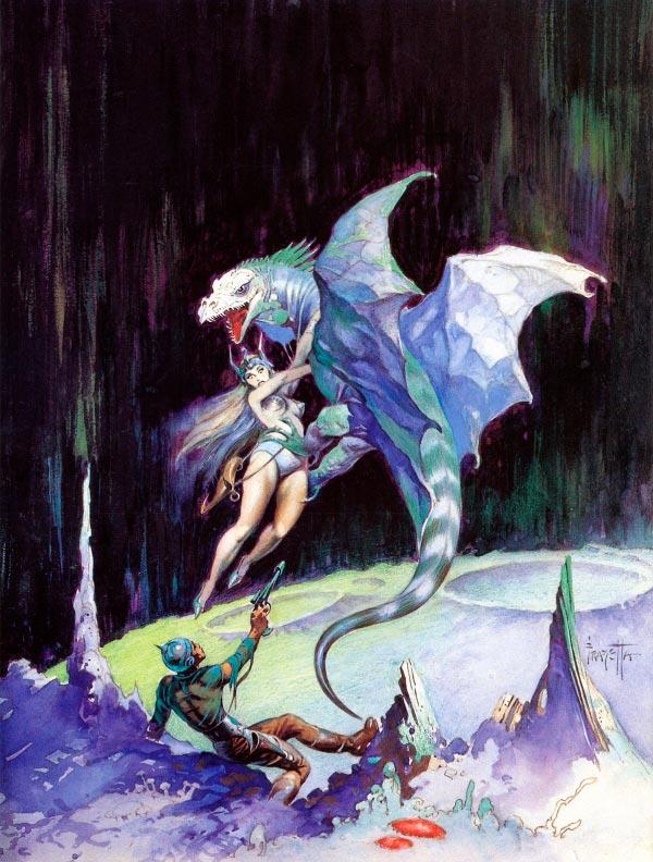 25 Ilustrações de Frank Frazetta: Fantasia de Ficção Científica Arte & Ilustração arte ilustração fantasia sci-fi frank frazetta Figura do Slideshow #26