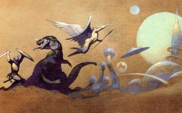 25 Ilustrações de Frank Frazetta: Fantasia de Ficção Científica Arte & Ilustração arte ilustração fantasia sci-fi frank frazetta Figura do Slideshow #24