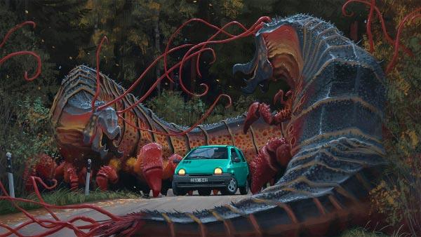 O Admirável Mundo Novo de Simon Stålenhag Arte & Ilustração arte ilustração fantasia sci-fi Figura do Slideshow #43