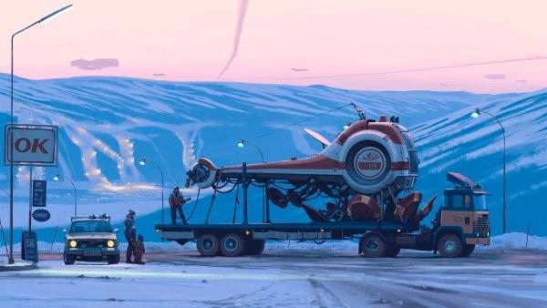 O Admirável Mundo Novo de Simon Stålenhag Arte & Ilustração arte ilustração fantasia sci-fi Figura do Slideshow #38