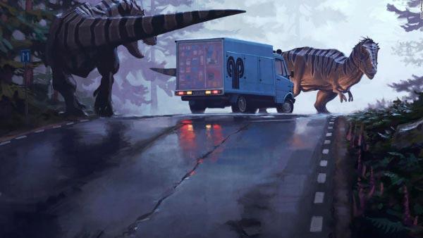 O Admirável Mundo Novo de Simon Stålenhag Arte & Ilustração arte ilustração fantasia sci-fi Figura do Slideshow #34