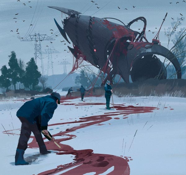 O Admirável Mundo Novo de Simon Stålenhag Arte & Ilustração arte ilustração fantasia sci-fi Figura do Slideshow #33