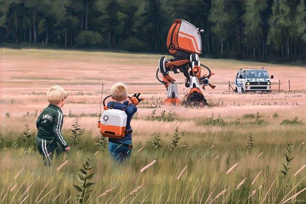 O Admirável Mundo Novo de Simon Stålenhag Arte & Ilustração arte ilustração fantasia sci-fi Figura do Slideshow #2