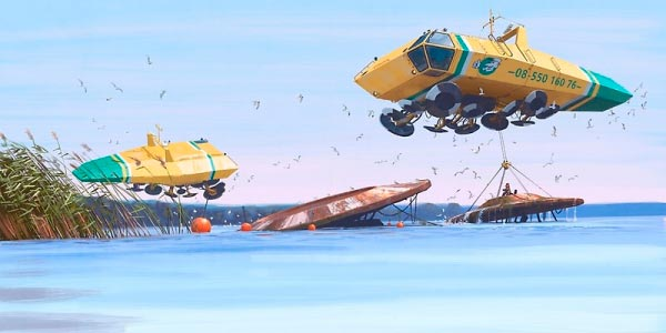 O Admirável Mundo Novo de Simon Stålenhag Arte & Ilustração arte ilustração fantasia sci-fi Figura do Slideshow #29
