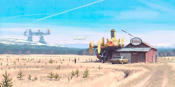 O Admirável Mundo Novo de Simon Stålenhag Arte & Ilustração arte ilustração fantasia sci-fi Figura do Slideshow #32