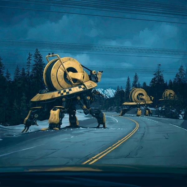 O Admirável Mundo Novo de Simon Stålenhag Arte & Ilustração arte ilustração fantasia sci-fi Figura do Slideshow #30