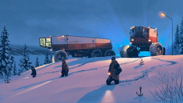 O Admirável Mundo Novo de Simon Stålenhag Arte & Ilustração arte ilustração fantasia sci-fi Figura do Slideshow #19