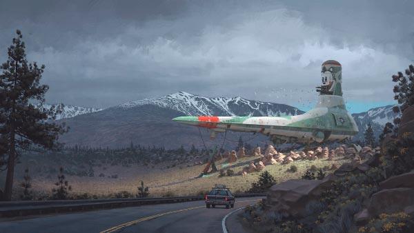 O Admirável Mundo Novo de Simon Stålenhag Arte & Ilustração arte ilustração fantasia sci-fi Figura do Slideshow #15