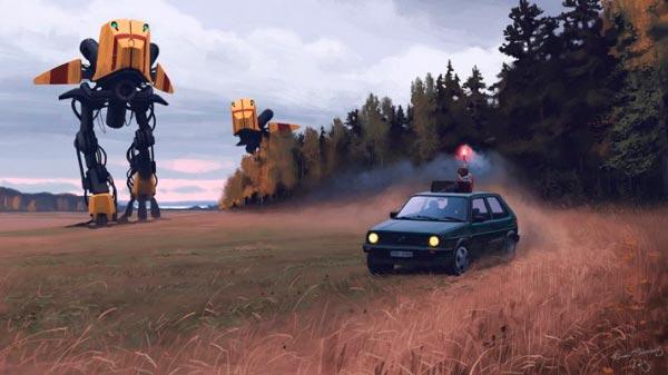 O Admirável Mundo Novo de Simon Stålenhag Arte & Ilustração arte ilustração fantasia sci-fi Figura do Slideshow #13