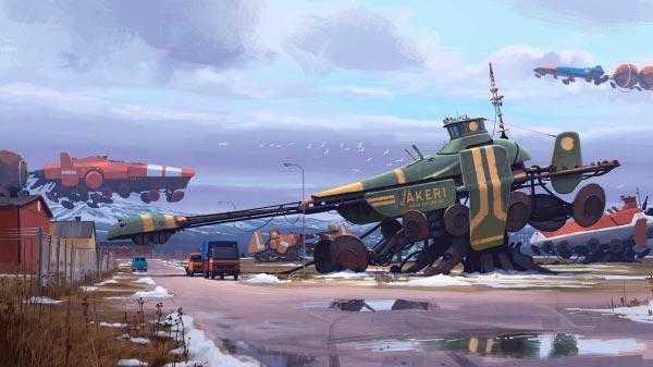 O Admirável Mundo Novo de Simon Stålenhag Arte & Ilustração arte ilustração fantasia sci-fi Figura do Slideshow #11