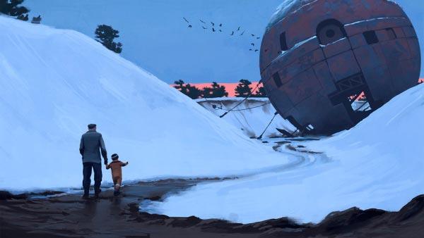 O Admirável Mundo Novo de Simon Stålenhag Arte & Ilustração arte ilustração fantasia sci-fi Figura do Slideshow #18
