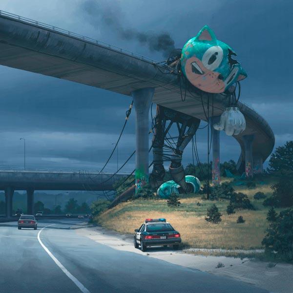 O Admirável Mundo Novo de Simon Stålenhag Arte & Ilustração arte ilustração fantasia sci-fi Figura do Slideshow #59