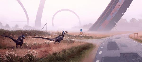 O Admirável Mundo Novo de Simon Stålenhag Arte & Ilustração arte ilustração fantasia sci-fi Figura do Slideshow #57