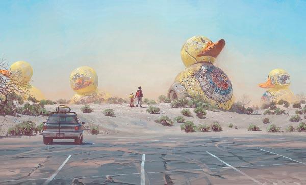 O Admirável Mundo Novo de Simon Stålenhag Arte & Ilustração arte ilustração fantasia sci-fi Figura do Slideshow #46