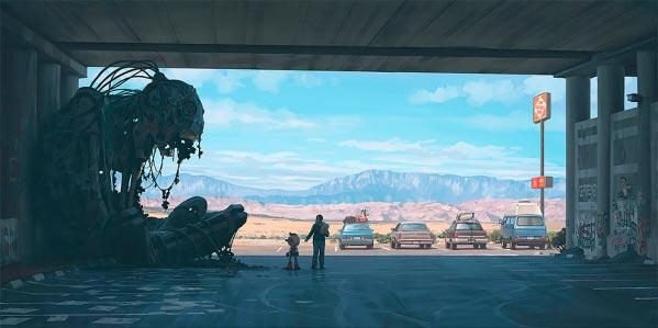 O Admirável Mundo Novo de Simon Stålenhag Arte & Ilustração arte ilustração fantasia sci-fi Figura do Slideshow #54