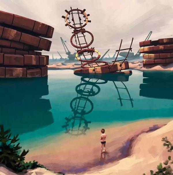 O Admirável Mundo Novo de Simon Stålenhag Arte & Ilustração arte ilustração fantasia sci-fi Figura do Slideshow #45