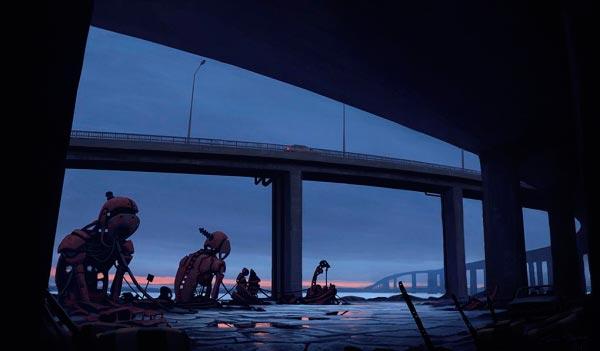 O Admirável Mundo Novo de Simon Stålenhag Arte & Ilustração arte ilustração fantasia sci-fi Figura do Slideshow #22