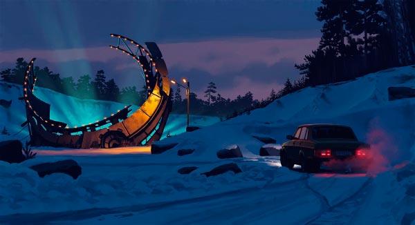 O Admirável Mundo Novo de Simon Stålenhag Arte & Ilustração arte ilustração fantasia sci-fi Figura do Slideshow #4