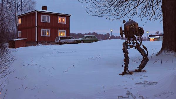 O Admirável Mundo Novo de Simon Stålenhag Arte & Ilustração arte ilustração fantasia sci-fi Figura do Slideshow #47