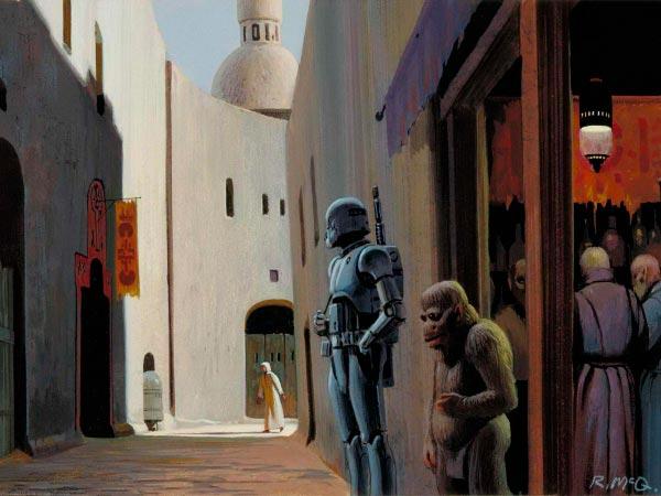 Star Wars IV: Uma Nova Esperança - Arte Conceitual de Ralph McQuarrie Arte & Ilustração Cinema arte ilustração fantasia cinema star wars sci-fi ralph mcquarrie Figura do Slideshow #15